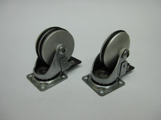 50MM.75MM.100MM鋁合金(單圈.雙圈)椅輪-分有煞及沒煞二種 1