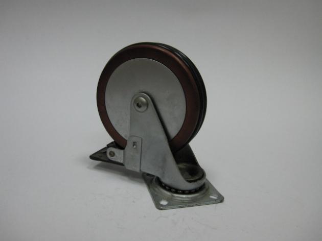 WCF50(75.100)木質+鋁合金雙膠椅輪 1