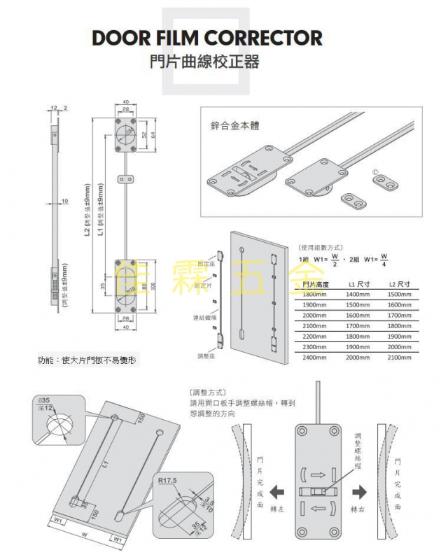 門片矯正器 1