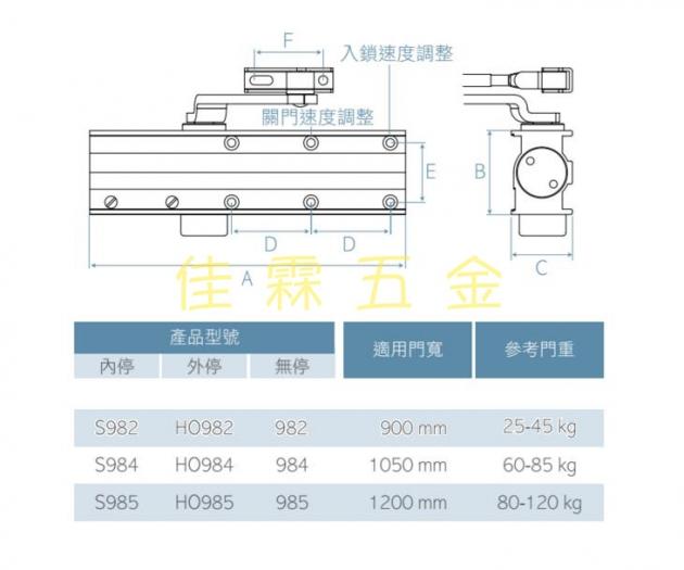 S980門弓器系列 標準內止動 2