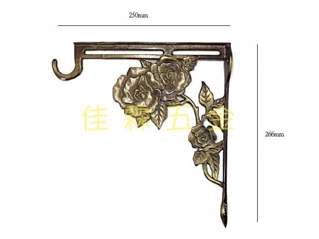 玫瑰銅三角架 1